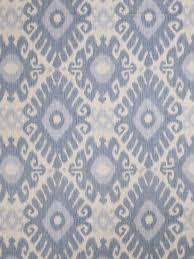 Blue Home Decor Fabric Denim Blue Ikat Upholstery Fabric Light Blue Curtain Material