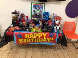 paw patrol candy table ideas boomkidz paw patrol candy table facebook