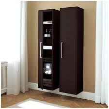 espresso bathroom linen cabinet 3 tempered glass shelves storage
