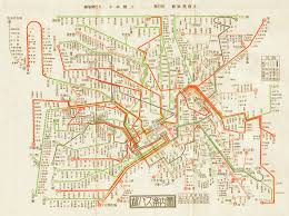 Bus Map Historical Map Bus Map Of Tokyo C 1950 Not A Transit Maps
