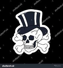 skull illustration traditional flash stock vector