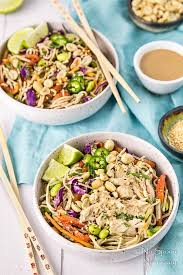 thai veggie soba noodle bowls with ginger tahini dressing no
