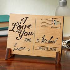 personalized keepsake gifts wood postcard