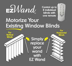 motorize and automate your window blinds by replacing your wand