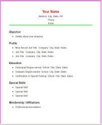 12 simple resume format recentresumes com