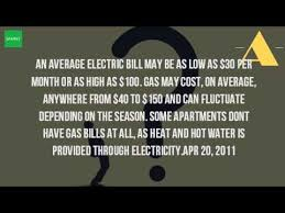 average cost of apartment how much is the average cost of gas per month youtube