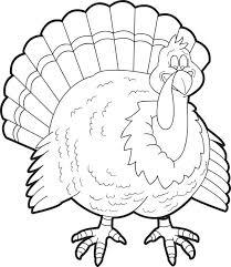 free printable turkey coloring kids 4