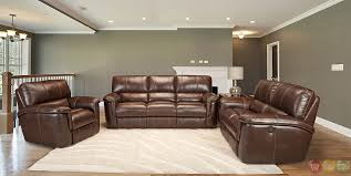 Brown Leather Recliner Sofa Set Amazing Of Reclining Leather Sofa Sets Living Hitchcock