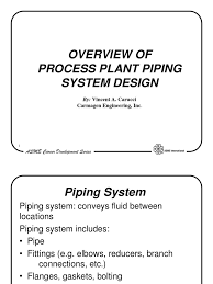 process plant piping overview pipe fluid conveyance valve