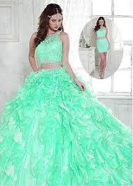 mint quinceanera dresses mint green 2017 gorgeous two 2 in 1 gown quinceanera