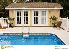 backyard pool house stock image image 8480001
