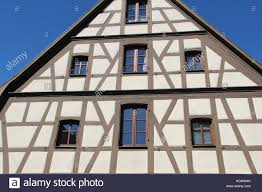 tudor style house facades of houses in the old style stock photo