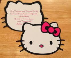 Invitation Card Hello Kitty Then We Made Hello Kitty Pancake And Pajama Party