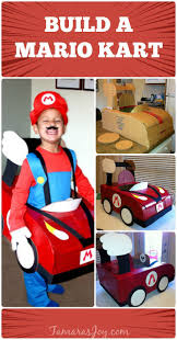 build a mario kart halloween costume out of a cardboard box http