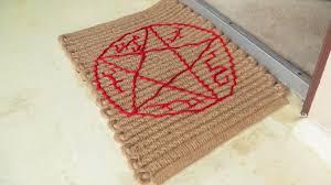Geek Doormat Fan Craft Devil U0027s Trap Supernatural Doormat U2013 All Treats No