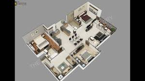 3d villa floor plan studio youtube