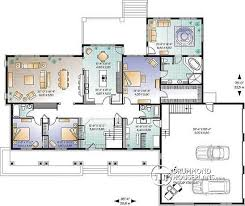 Floor Plans With 3 Car Garage House Plan W3600 Detail From Drummondhouseplans Com