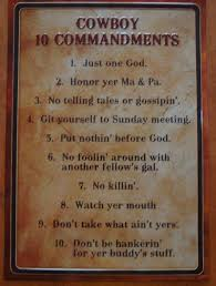 wild west home decor cowboy ten commandments old west primitive country western sign