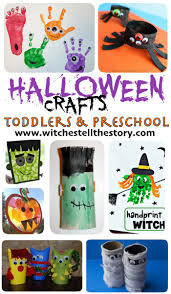 Halloween Crafts For Kindergarteners by 36 Halloween Crafts For Toddlers U0026 Preschool Hand Print Crafts