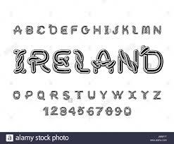 ireland font national celtic alphabet traditional ornament