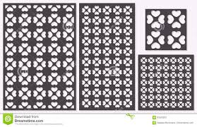 set of decorative panels laser cutting a wooden panel modern