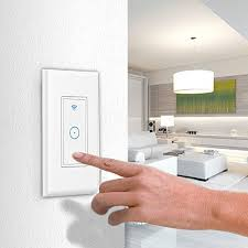 smart light switch in wall smartphone remote control wi fi light