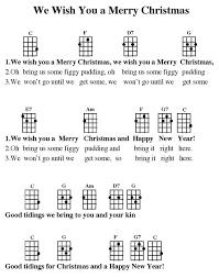 we wish you a merry ukele ukulele tabs