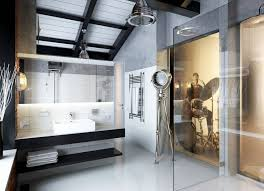 Best Industrial Bathroom Design Images On Pinterest - Industrial bathroom design