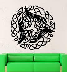 home decor ireland fashionable druid ireland irish wolf wall sticker home decor