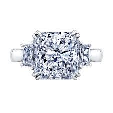 radiant cut engagement rings 3 00 carat center radiant cut engagement ring