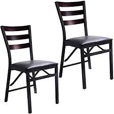 Wood Folding Chairs Amazon Com Cosco 2 Pack Wood Folding Chair With Vinyl Seat And