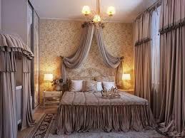 bedroom curtain ideas light brown motif curtain chandelier circle