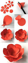 How To Make Easy Paper Flowers For Cards - best 25 handmade paper flowers ideas on pinterest paper flowers