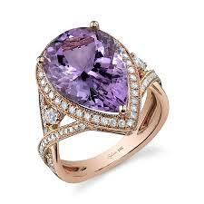 amethyst engagement rings glamorous pear cut purple amethyst and diamond ring diamond