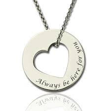 engraved necklaces for valentines gifts for promise necklace for sterling silver