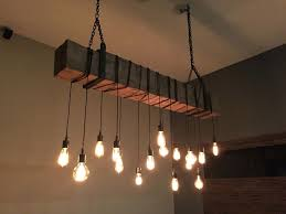 rustic beam light fixture top 77 matchless diy rustic modern chandelier custom made reclaimed