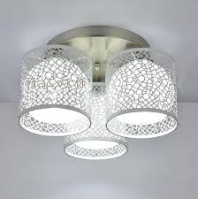 Flush Ceiling Lights For Kitchens Semi Flush Mount Ceiling Lights 3 Light White Hardware Shade