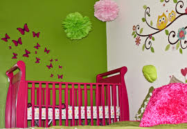 lime green bedroom showing green wall theme and green bed cover on