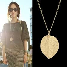 cheap gold necklace images Wish cheap costume jewelry gold color alloy leaf design pendant jpg