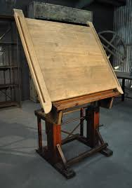 vintage wood drafting table 1900 wooden drafting table espacenordouest objetos mobiliário