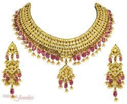 necklace sets images Gold kundan set stan3332 us 10 145 22kt gold kundan jpg