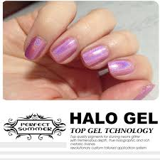20 colors 10ml halo gel nail polish glitter sparkle nail lacquer