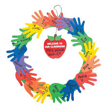 welcome to class hand wreath craft kit orientaltrading com for