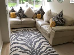 Pre Owned Chesterfield Sofa by Cream Leather Sofa With Matching Cushions U0026 Rug In East End