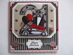 personalised handmade male 21st birthday card special son grandson