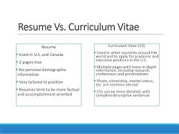 curriculum vitae cv vs resume cv vs resume in canada cv vs resume exle jobsxs