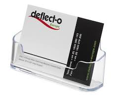 deflecto business card holders single compartment 3