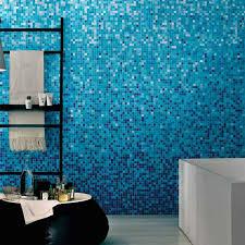 bathroom ideas blue glass mosaic tiled shower beach subway tile