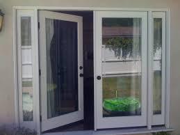 Center Swing Patio Doors Patio Doors Simonton Windows Single Door With Screen