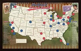 Royals Stadium Map Amazon Com Ballpark Travel Quest Map Posters U0026 Prints
